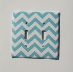 chevron light switch plate
