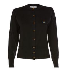 Vivienne Westwood classic black cashmere cardigan