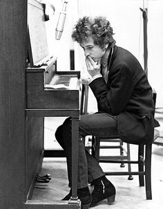 Dylan at Columbia Records Studios, 1965