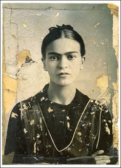 Frida Kahlo rockin the eyebrows.  It is so awesome how someone who is so different from the stereotypical beauty could be so beautiful.