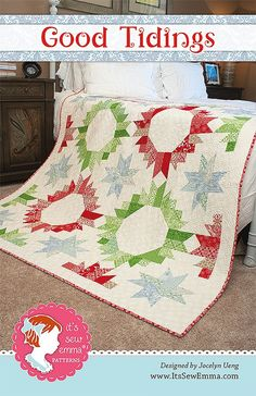 Good Tidings Quilt PatternJocelyn Ueng for It's Sew Emma #ISE-147 | Christmas Cloth Store