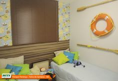 Apartamento decorado 2 quartos do Parque Florença no bairro Santa Mônica II - Feira de Santana - BA - MRV Engenharia - Quarto
