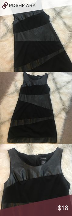 Alyn Paige leather detail dress Alyn Paige black leather bodycon style dress in good used condition with some mine pilling as seen in photo Alyn Paige Dresses Mini