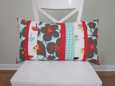 patchwork pillow (mostly Amy Butler fabric) | por s.o.t.a.k handmade