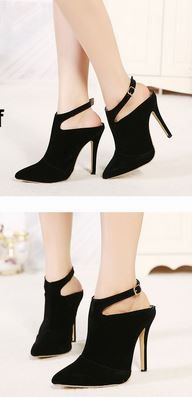 Ankle Strap Boot Heels