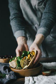 Falafel Gyro with Hummus & Lemon Herb Tahini Drizzle – The Blonde Chef