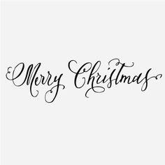 Merry Christmas in beautiful cursive!