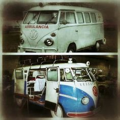 VW ambulance, Saving lives one Hippie at a time.