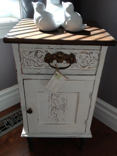 Distressed Dandy Bedside Table by Thistle Thatch Designs