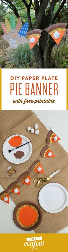 Pumpkin pie banner,
