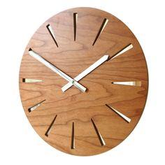 Roco Verre Cherry Mirror Clock