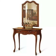 Buy Antique Console Table with Mirror High Quality French Furniture made in Indonesia we have huge selection of Bedroom Furniture in french style design ...  sc 1 st  Pinterest & English Victorian Hall or Pier Mirror \u0026 Marble Console Table Set ...