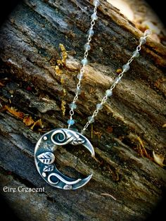 Artemis Crescent Moon Necklace by EireCrescent on Etsy, $69.99