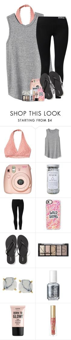 """""""rtd"""" by katie-1111 ❤ liked on Polyvore featuring Hollister Co., Gap, Fujifilm, Herbivore, NIKE, Casetify, Old Navy, H&M, Vince Camuto and Essie"""