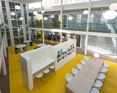 Interior Corporate Learning Centre CLC Westraven Rijkswaterstaat Utrecht by Studio Green + Shield