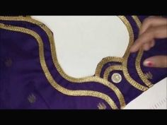 Lace blouse design cutting and stitching - youtube Latest Blouse Neck Designs, Simple Blouse Designs, Saree Blouse Neck Designs, Stylish Blouse Design, Bridal Blouse Designs, Traditional Blouse Designs, Patch Work Blouse Designs, Churidar Neck Designs, Designer Blouse Patterns