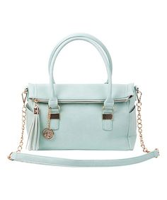 Look at this #zulilyfind! Mint Fold-Over Convertible Satchel by LYDC London #zulilyfinds
