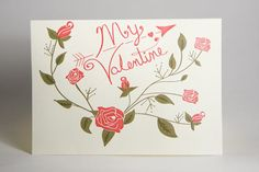 Free vintage valentine's day card and envelope template download printable