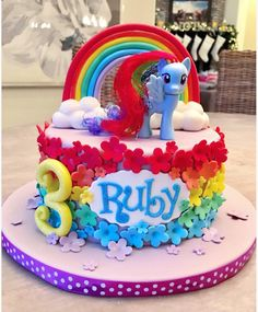 My little pony birthday cake- rainbow dash