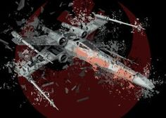 prints on metal Movies & TV x wing star wars shattered rebel alliance classic