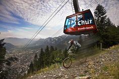 Downhill Mountainbike Alpenbikepark Brambrueesch (Chur, Graubuenden, Switzerland)