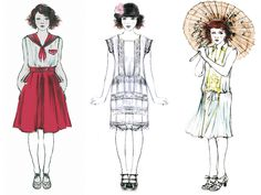 Sketches for Emma Stone in Magic in the Moonlight. We talk to #WoodyAllen costume designer Sonia Grande on designing for the 1920s Riviera characters. #Twenties #Flappers