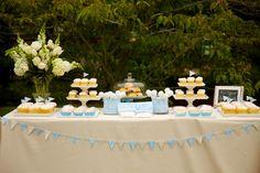 Dan Cutrona Photography, garden party inspiration, blue and pastel inspiration, dessert table ideas, white floral decor
