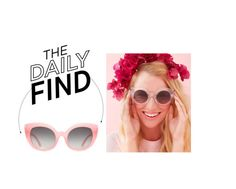 """The Daily Find: Ban.do Pink Sunglasses"" by polyvore-editorial ❤ liked on Polyvore featuring DailyFind"