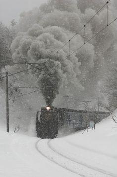 "500px / Photo ""Steam Locomotive in heavy snow"" by Nihs Ikasas"