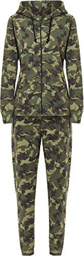 Wearall Womens Camouflage Tracksuit  Green  US 6 UK 10 ** Be sure to check out this awesome product.  This link participates in Amazon Service LLC Associates Program, a program designed to let participant earn advertising fees by advertising and linking to Amazon.com.