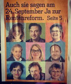 #av2020 #altersvorsorge2020 #september #work #gewerschaft September, Movies, Movie Posters, Politics, Film Poster, Films, Popcorn Posters, Film Books