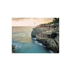 Rick's Cafe, Negril, Jamaica Photographic Wall Art Print (790 MXN) ❤ liked on Polyvore featuring home, home decor, wall art, caribbean, caribbean islands, jamaica-doug pearson, subjects, travel, world regions and cafe wall art