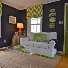 A little bit of inspo for Ave's room...they aren't the only two colors, but navy walls are kind of awesome...maybe with some design?