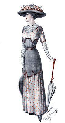 Edwardian Fashion Image Downton Style Antique Clothing