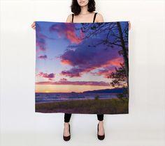 Lake Superior Agawa Bay Sunset 3 Large Square Silk Scarf