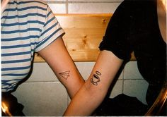 i think simple cute tattoos like these are the best. that paper airplane <3____<3