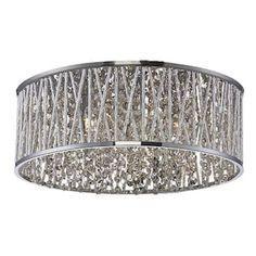 Patriot Lighting Elegant Home Carolyn Chrome 6 Light Flush Mount