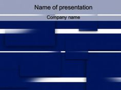 Blue Squares powerpoint template