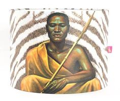 The Tretchikoff Project - Tretchikoff Xhosa Warrior Lampshade, $67.68 (http://shop.vladimirtretchikoff.com/tretchikoff-xhosa-warrior-lampshade/)
