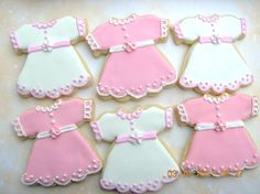 Girl Baby Shower Cookies Shower cookies for baby girl. I thought it was a cute idea when the customer requested the little dress. I'd...