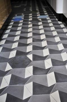 Hexagonal. Tiles: Purpura. #cementtiles