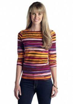 Ruby Rd  Petite Bohemian Bazaar Embellished Stripe Top