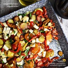 Kung Pao Chicken, Vegetable Pizza, Feta, Lunch Box, Food And Drink, Vegetables, Ethnic Recipes, Polish Food Recipes, Vegetable Recipes
