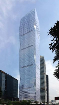 R&F Yingkai Square, Guangzhou-China, 296.2 m, completion-2014, architect-Goettsch Partners