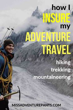 Ready for an adventure? Don't leave home without travel insurance. Here's how I insure my hiking, trekking, and mountaineering trips to off-the-beaten-path destinations. Backpacking Tips, Hiking Tips, Travel Guides, Travel Tips, Travel Goals, Travel Insurance Policy, Overseas Travel, Europe, Thailand Travel