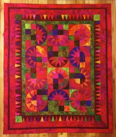 Calypso quilt pattern. Simple to Sensational Batiks by Lynda Milligan and Nancy Smith (2008).