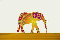 Nursery Decor Elephant Fabric Wall Decals in Summer by Popitay, $47.00
