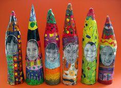 Paper mache gnomes  This site has got buckets full of brilliant ideas!