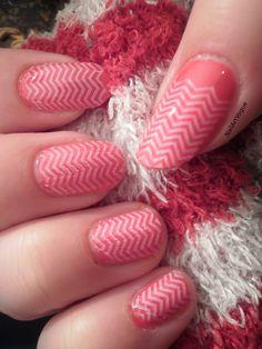 NAV ❘ Red & White Chevron Nail Stamping Art Tutorial