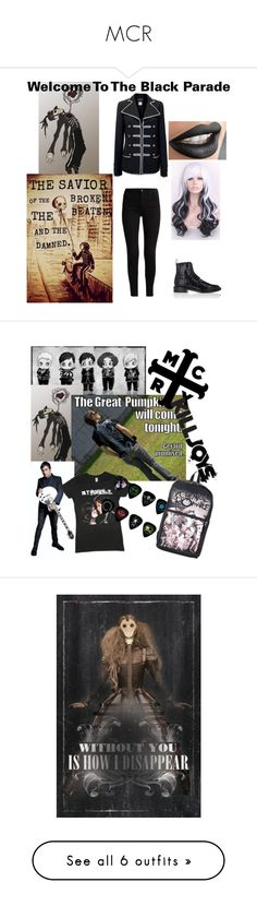 """MCR"" by anamariarox ❤ liked on Polyvore featuring Chanel, Robert Clergerie, art, Sandro, ASOS Curve, Richmond & Finch, Converse, Hot Topic, Illesteva and Jetoy"